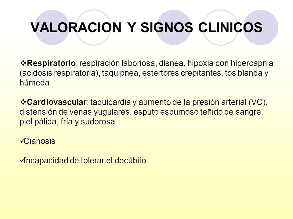 VALORACION Y SIGNOS CLINICOS