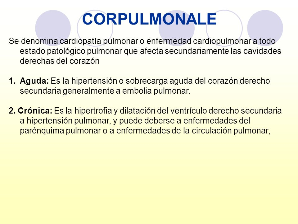 CORPULMONALE