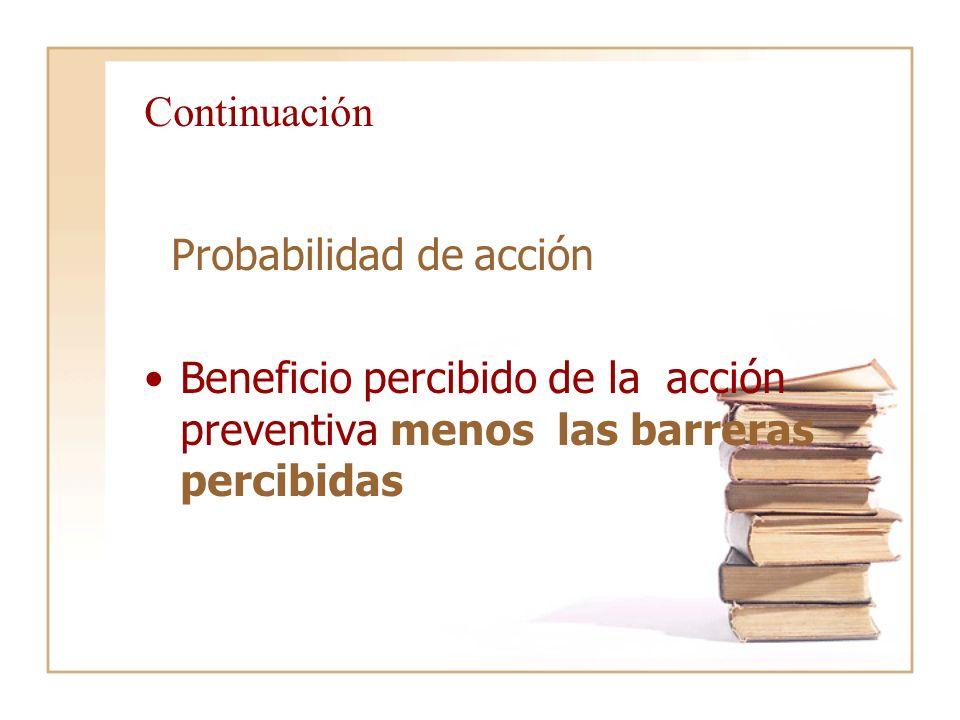 Continuación Probabilidad de acción.