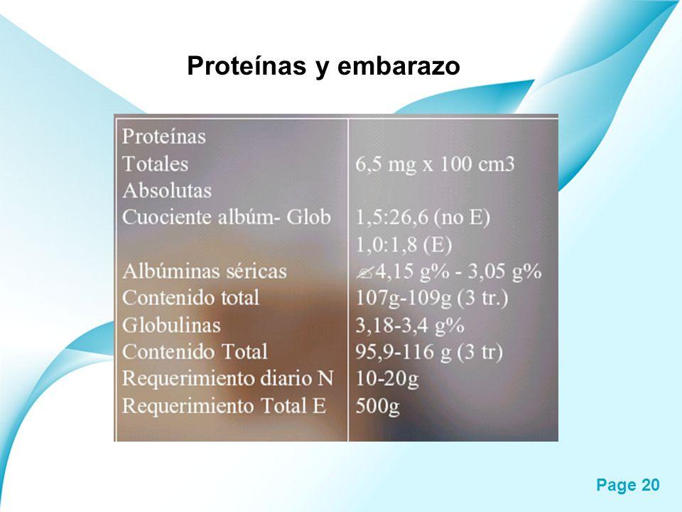 Proteínas y embarazo