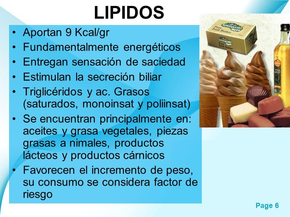 LIPIDOS Aportan 9 Kcal/gr Fundamentalmente energéticos