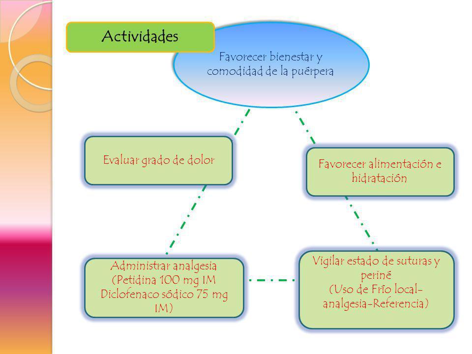Actividades Favorecer bienestar y comodidad de la puérpera