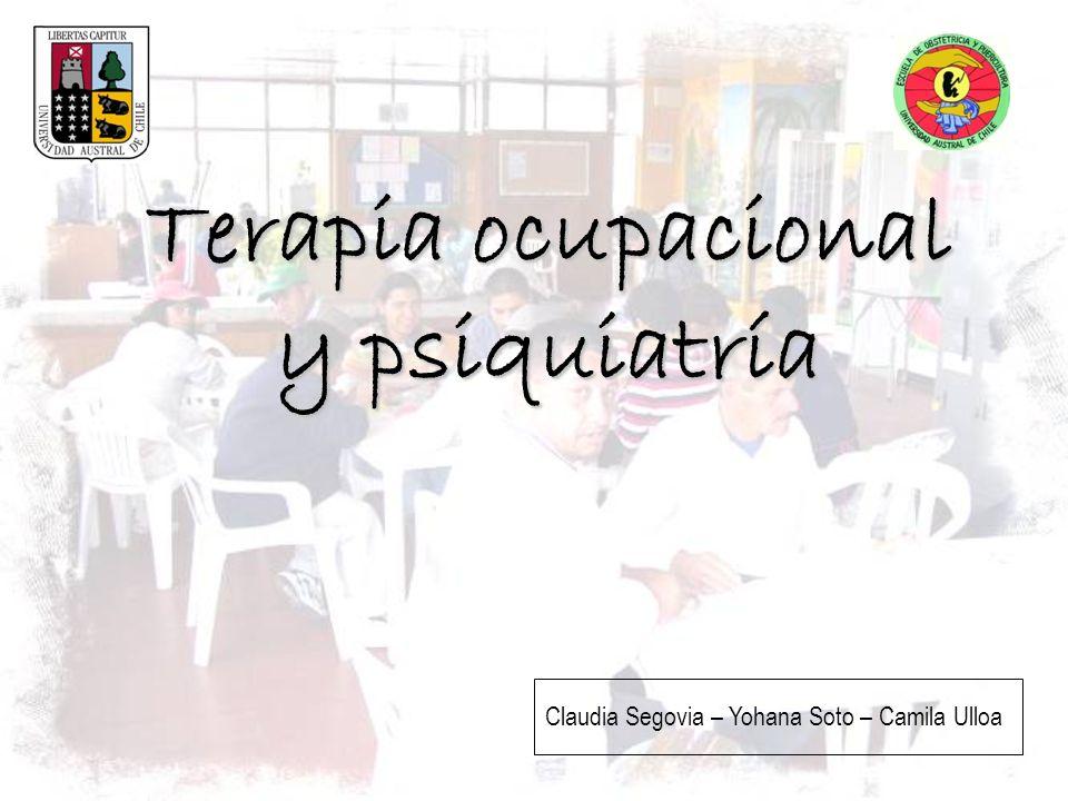 Terapia ocupacional y psiquiatría