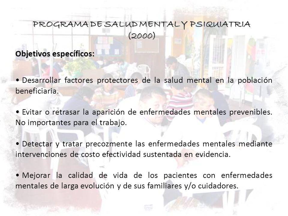 PROGRAMA DE SALUD MENTAL Y PSIQUIATRIA (2000)