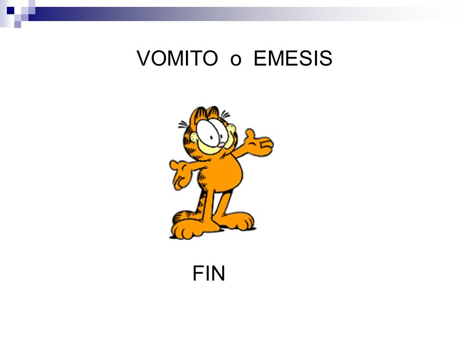 VOMITO o EMESIS FIN
