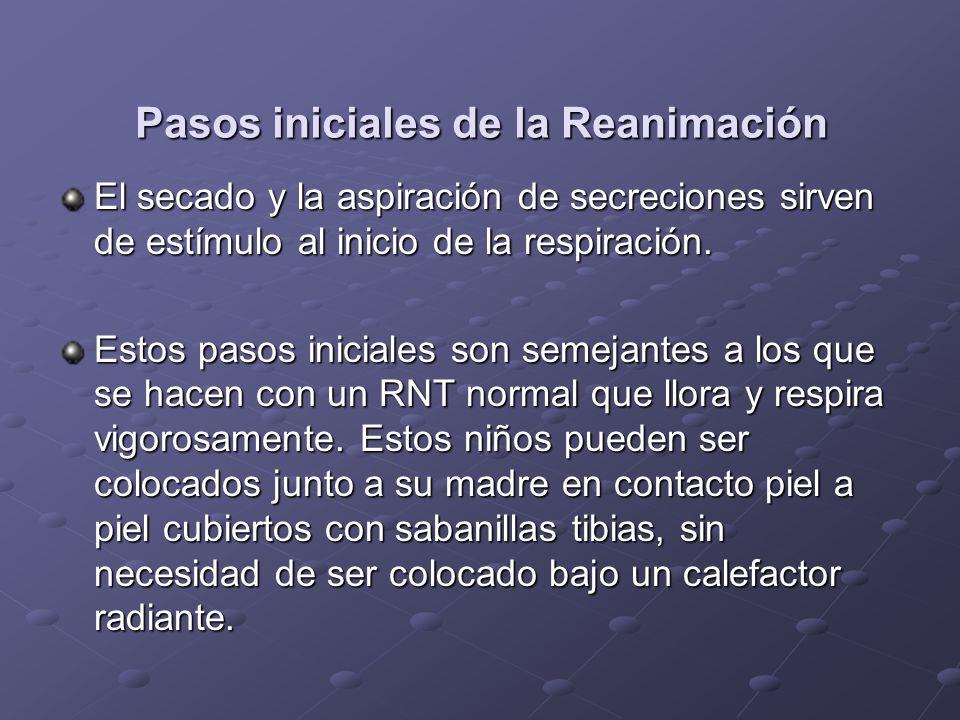 Pasos iniciales de la Reanimación