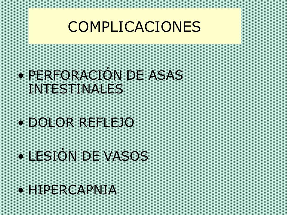 COMPLICACIONES PERFORACIÓN DE ASAS INTESTINALES DOLOR REFLEJO