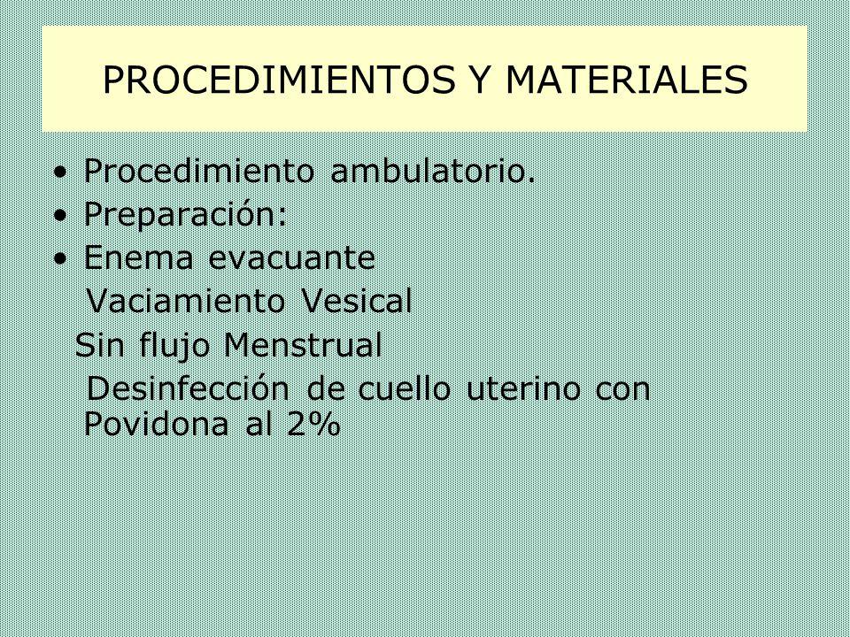 PROCEDIMIENTOS Y MATERIALES