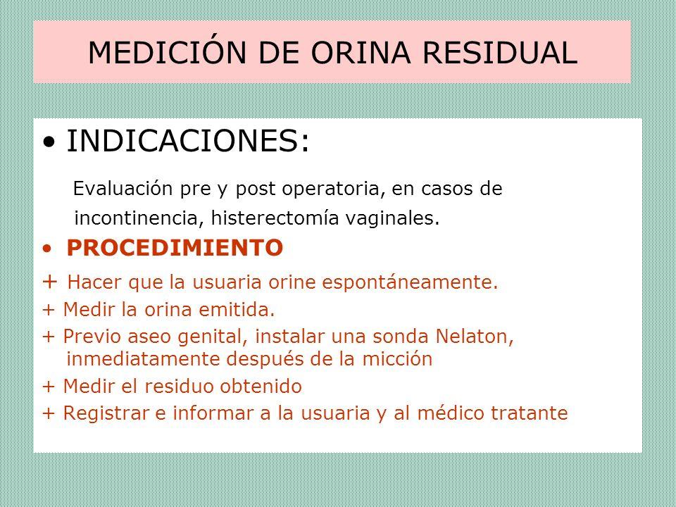 MEDICIÓN DE ORINA RESIDUAL