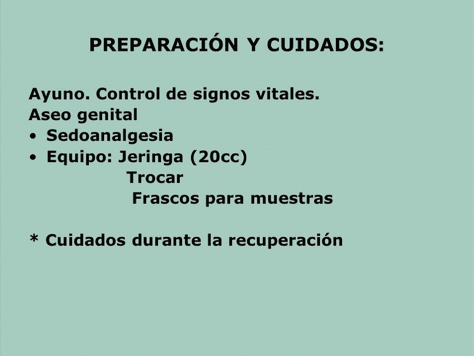 PREPARACIÓN Y CUIDADOS: