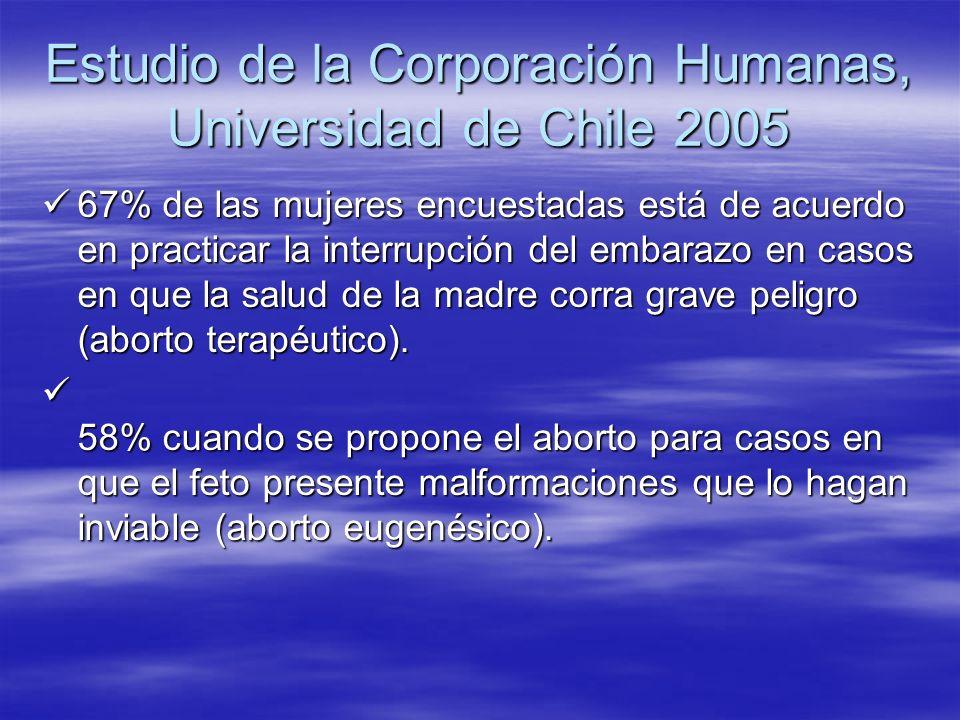 Estudio de la Corporación Humanas, Universidad de Chile 2005