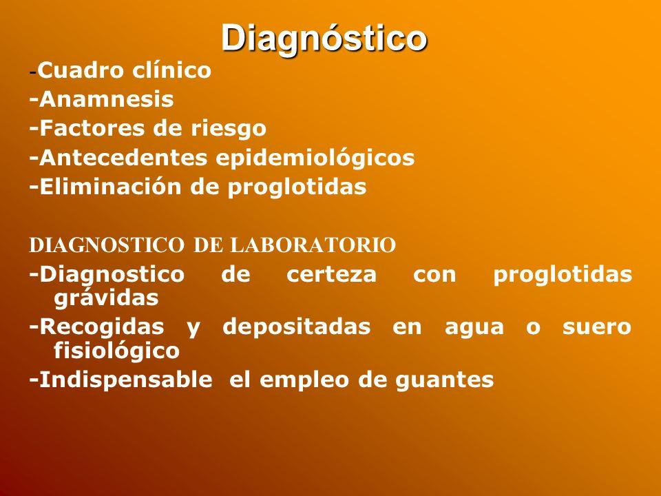 Diagnóstico -Anamnesis -Factores de riesgo