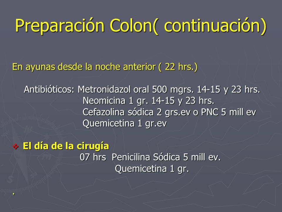 Preparación Colon( continuación)