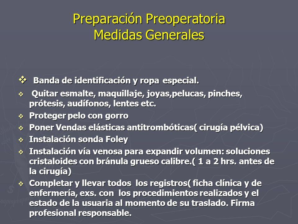 Preparación Preoperatoria Medidas Generales