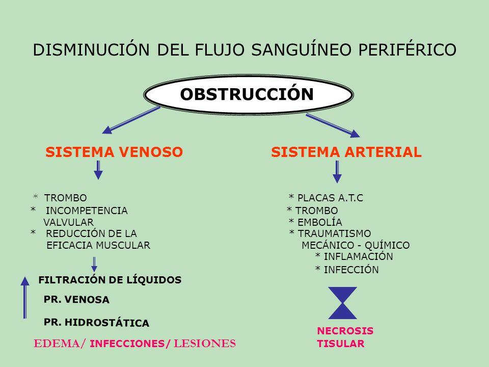 DISMINUCIÓN DEL FLUJO SANGUÍNEO PERIFÉRICO