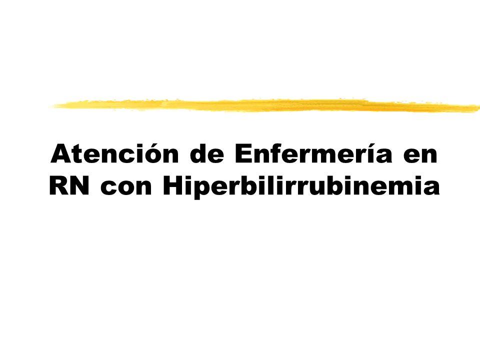 Atención de Enfermería en RN con Hiperbilirrubinemia