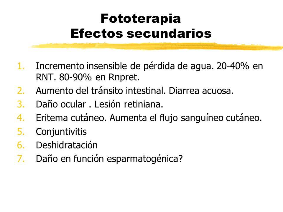 Fototerapia Efectos secundarios