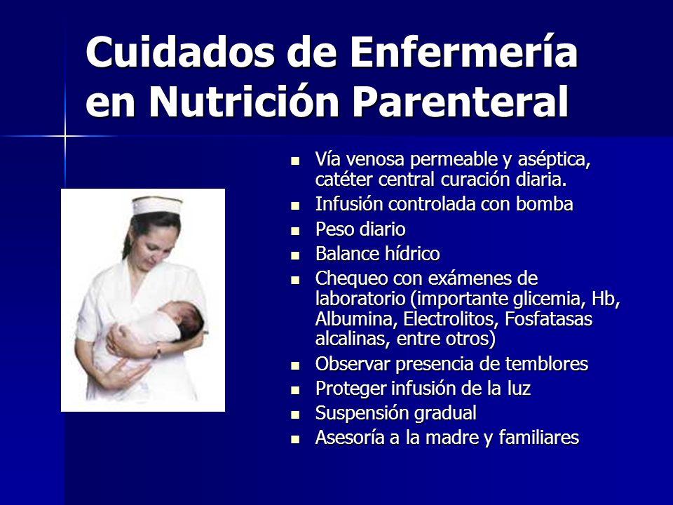 Cuidados de Enfermería en Nutrición Parenteral