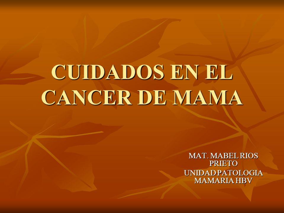 CUIDADOS EN EL CANCER DE MAMA