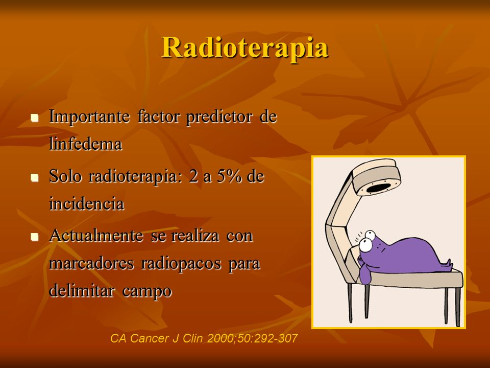 Radioterapia Importante factor predictor de linfedema