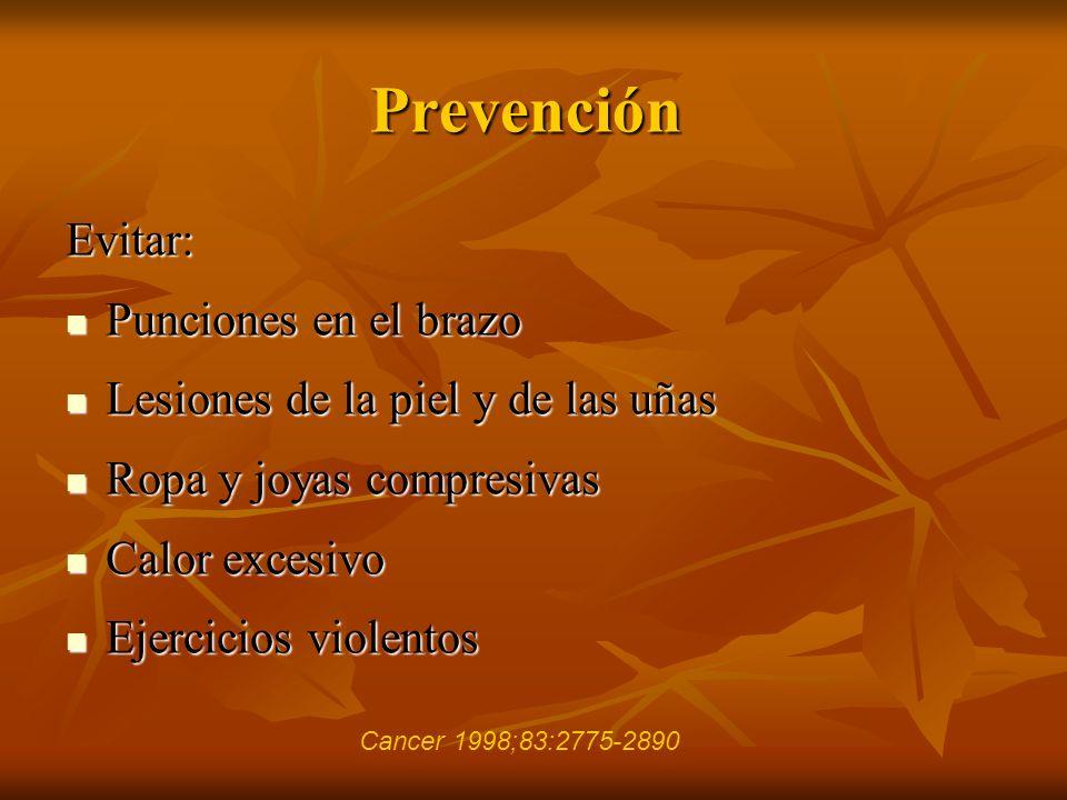 Prevención Evitar: Punciones en el brazo