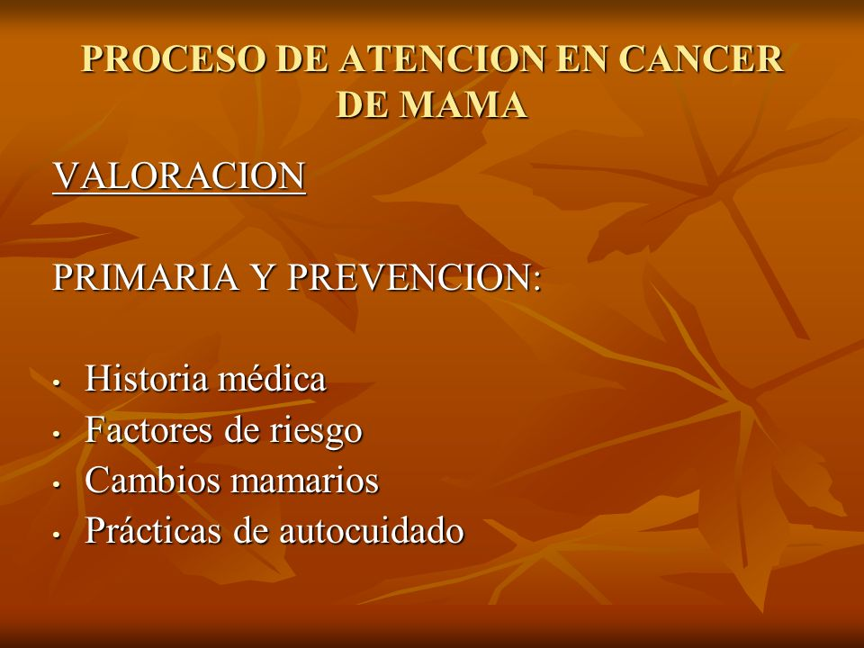 PROCESO DE ATENCION EN CANCER DE MAMA