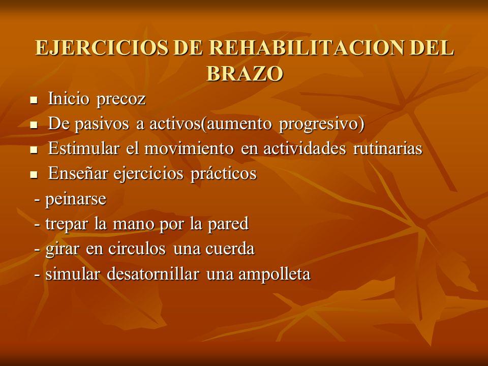 EJERCICIOS DE REHABILITACION DEL BRAZO