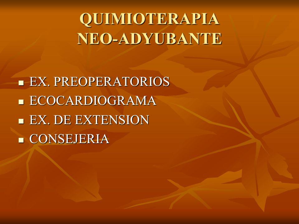 QUIMIOTERAPIA NEO-ADYUBANTE