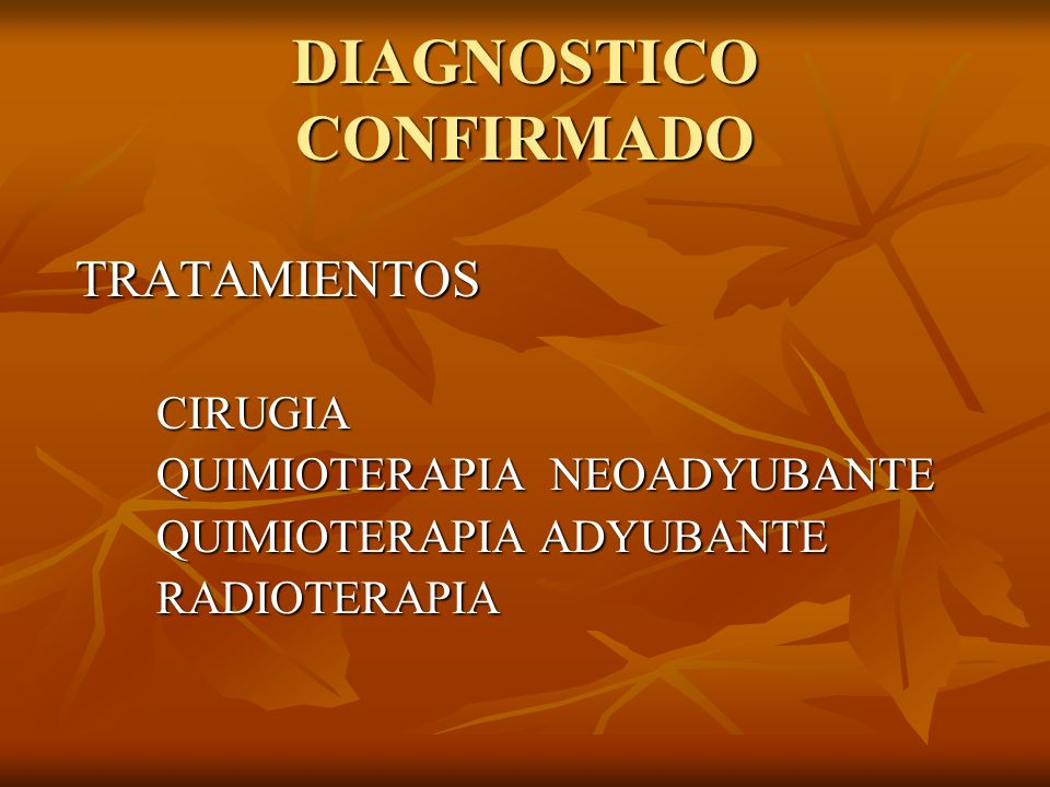 DIAGNOSTICO CONFIRMADO