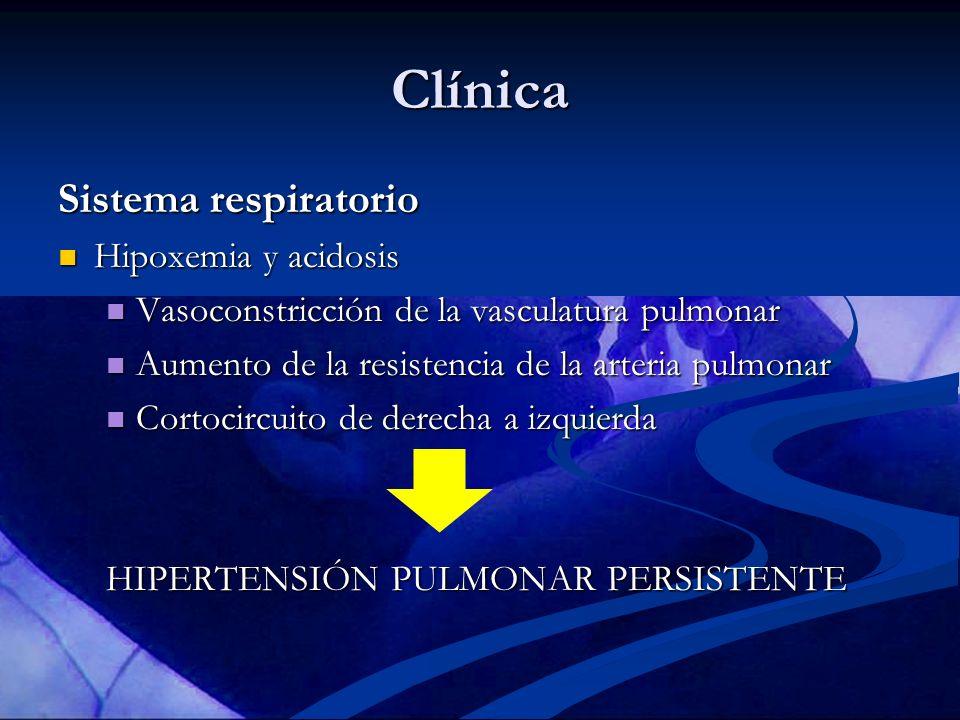 Clínica Sistema respiratorio Hipoxemia y acidosis