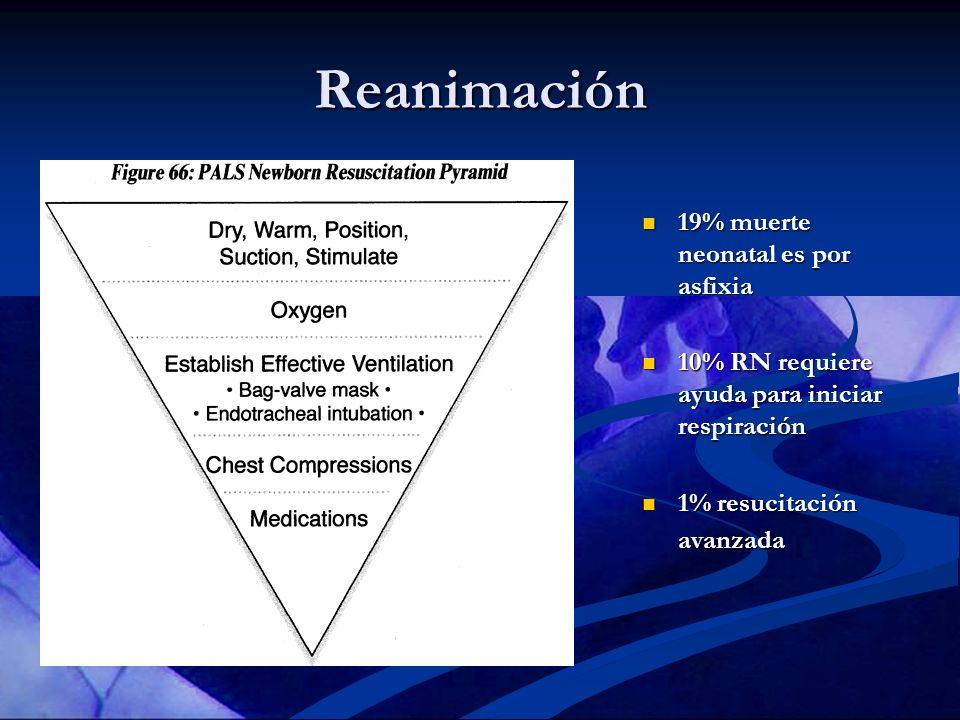 Reanimación 19% muerte neonatal es por asfixia