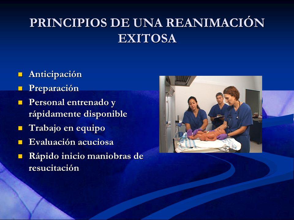 PRINCIPIOS DE UNA REANIMACIÓN EXITOSA