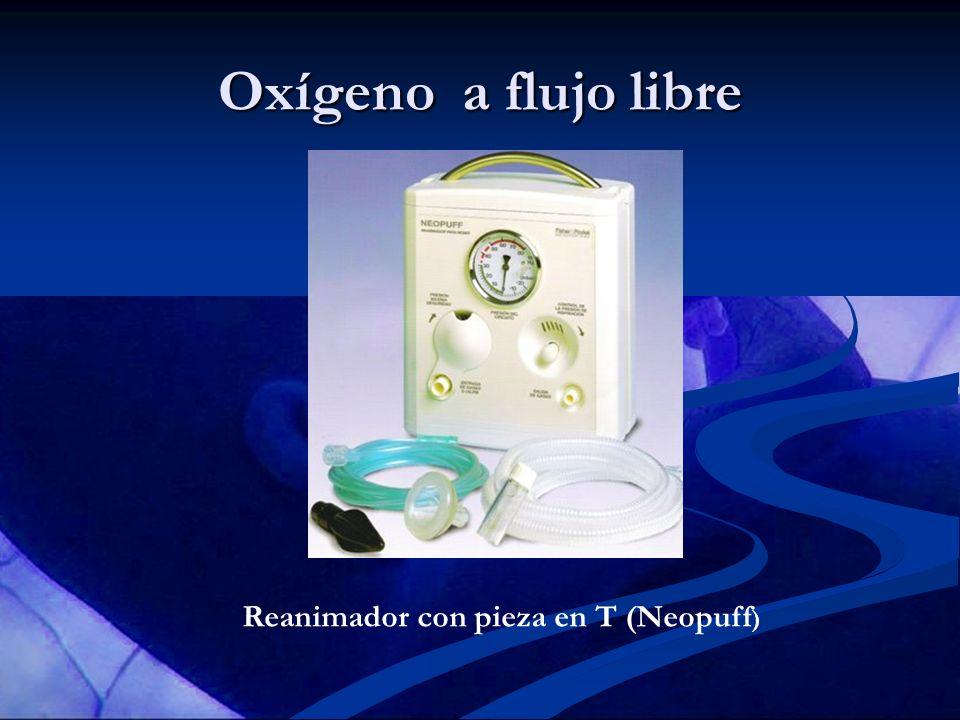 Oxígeno a flujo libre Reanimador con pieza en T (Neopuff)