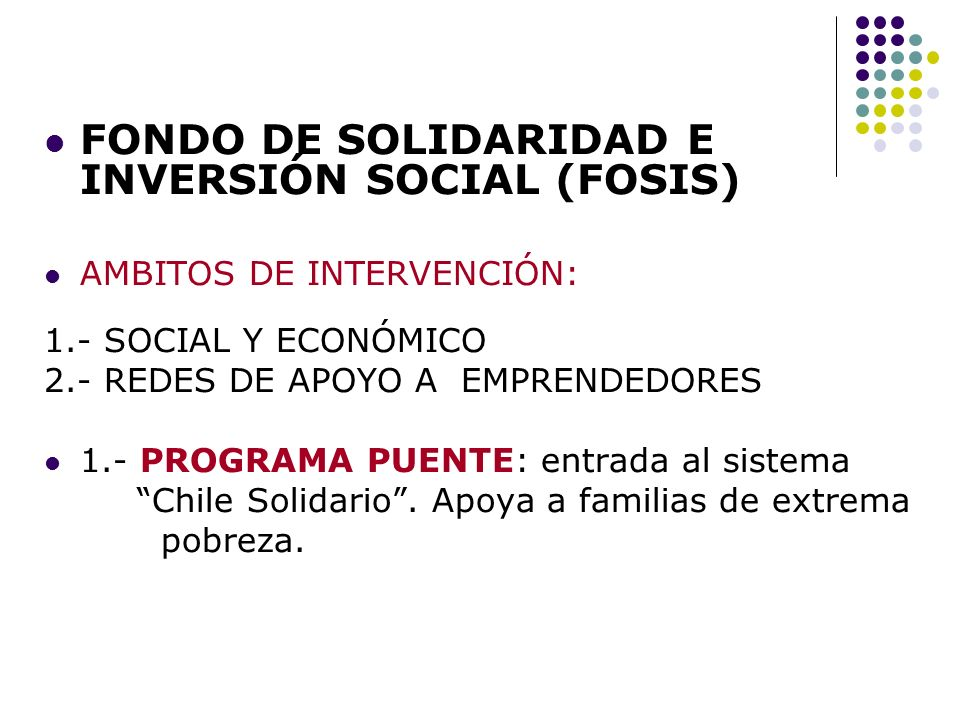 FONDO DE SOLIDARIDAD E INVERSIÓN SOCIAL (FOSIS)