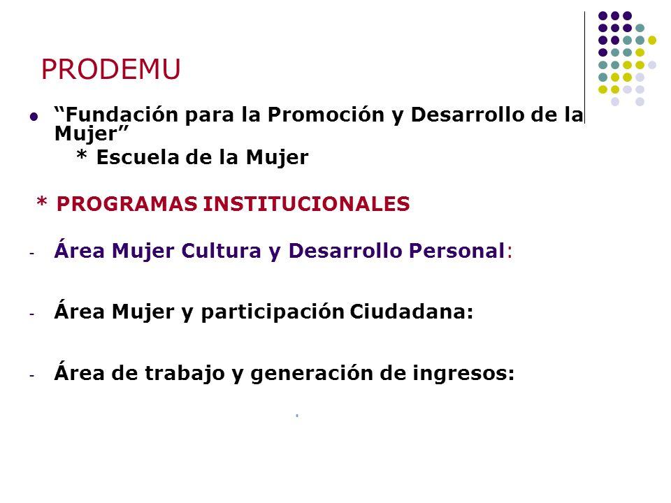 PRODEMU Fundación para la Promoción y Desarrollo de la Mujer