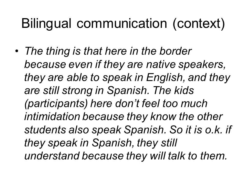 Bilingual communication (context)