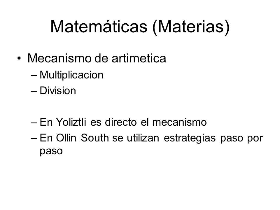 Matemáticas (Materias)