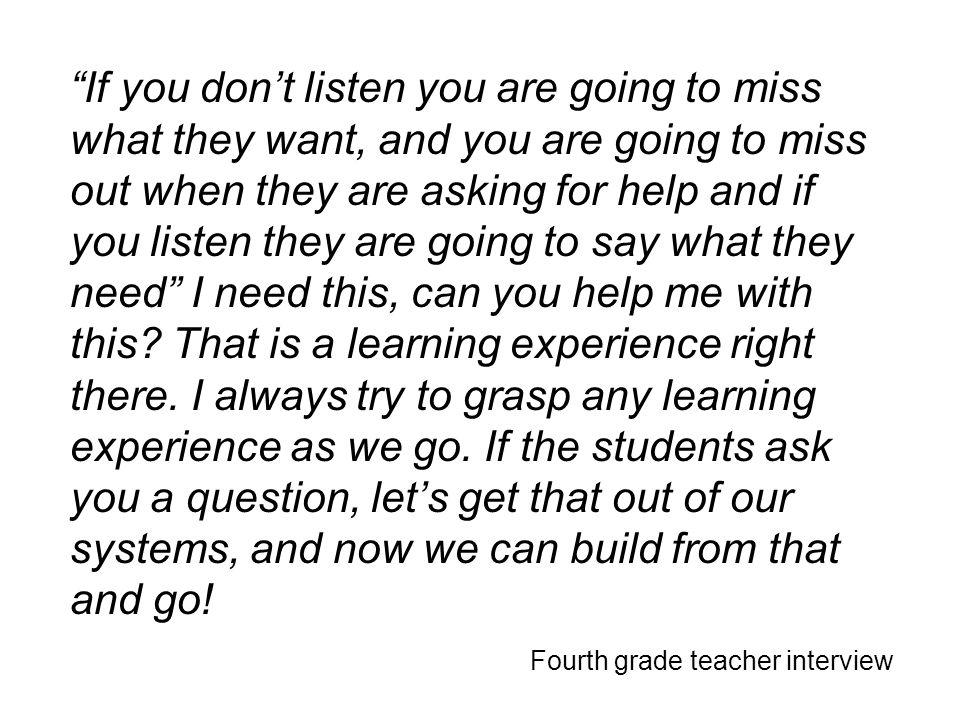 Fourth grade teacher interview