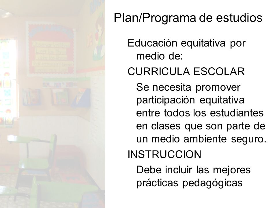 Plan/Programa de estudios
