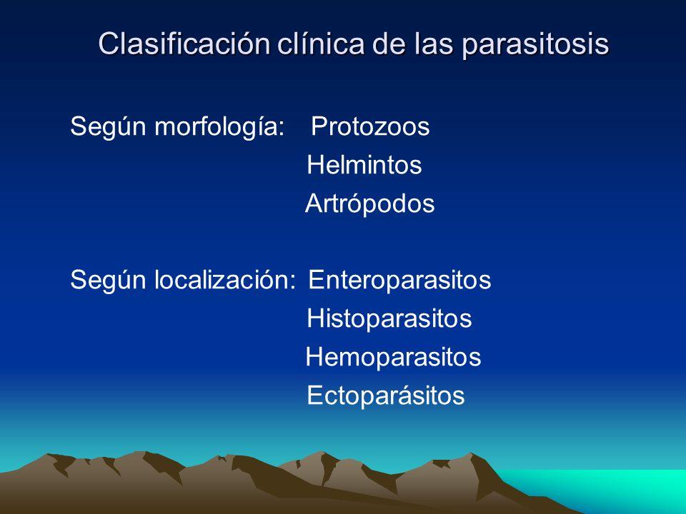 Clasificación clínica de las parasitosis