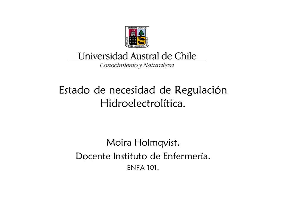 Estado de necesidad de Regulación Hidroelectrolítica.
