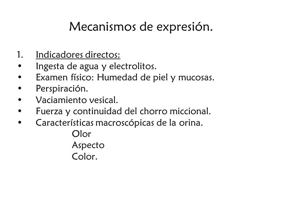 Mecanismos de expresión.