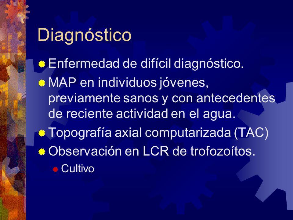 Diagnóstico Enfermedad de difícil diagnóstico.