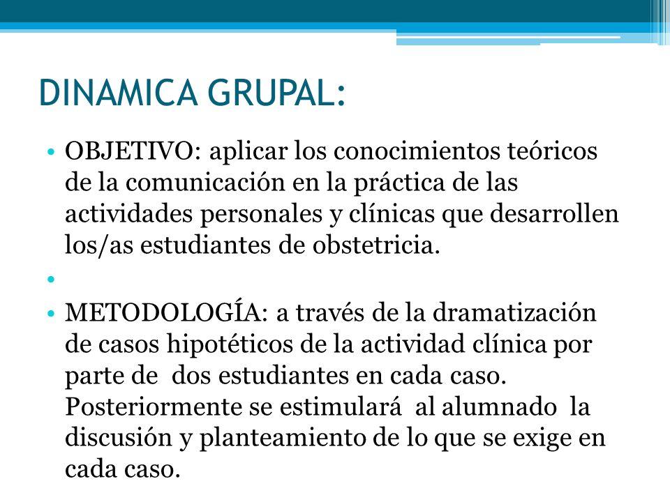 DINAMICA GRUPAL:
