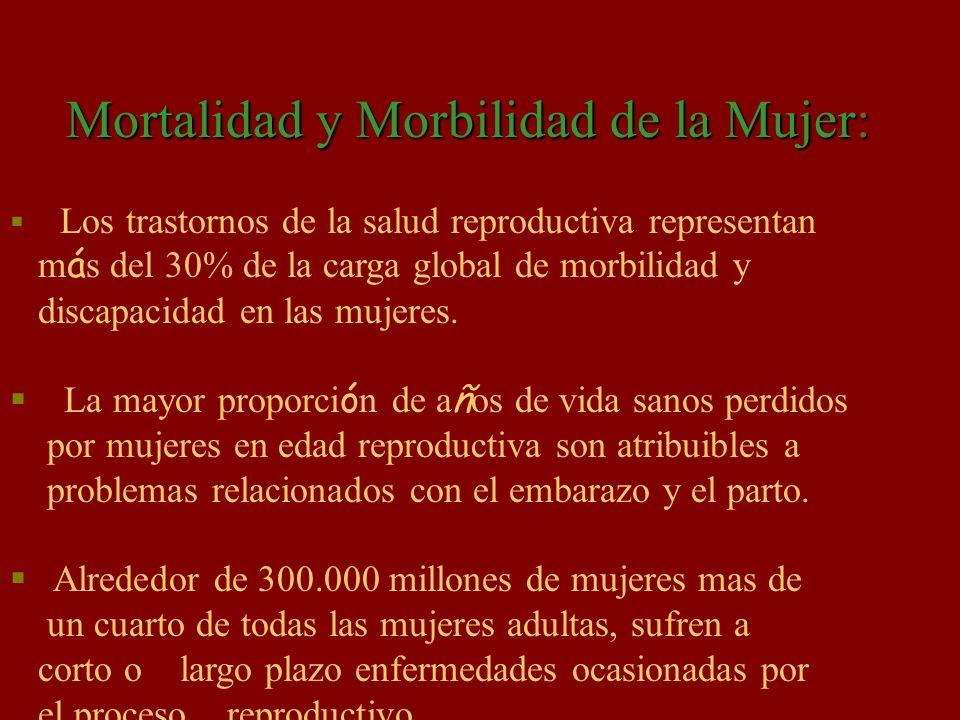 Mortalidad y Morbilidad de la Mujer: