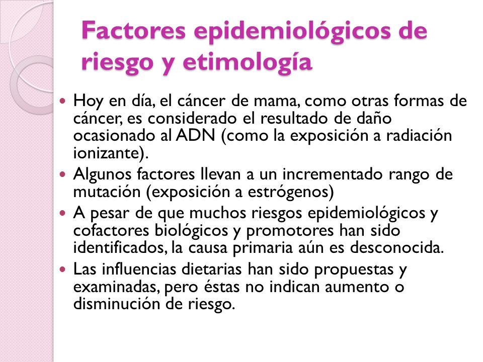 Factores epidemiológicos de riesgo y etimología
