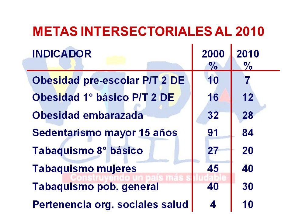 METAS INTERSECTORIALES AL 2010