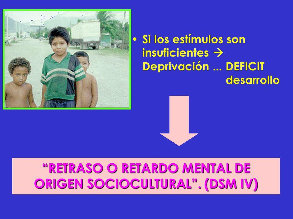 RETRASO O RETARDO MENTAL DE ORIGEN SOCIOCULTURAL . (DSM IV)
