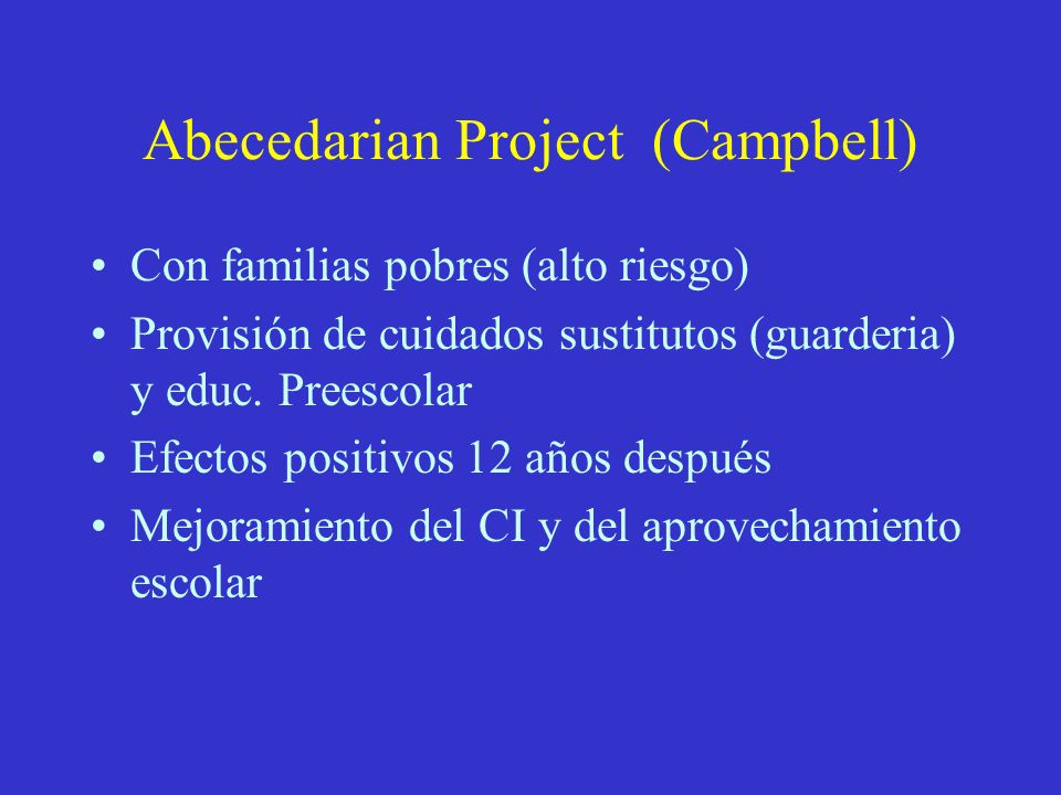 Abecedarian Project (Campbell)