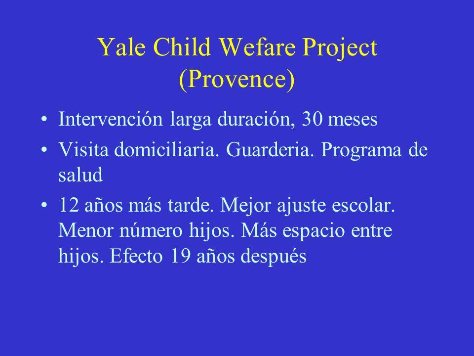 Yale Child Wefare Project (Provence)